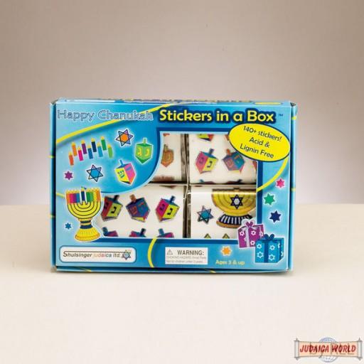 Box of Chanukah Stickers - 4 Rolls