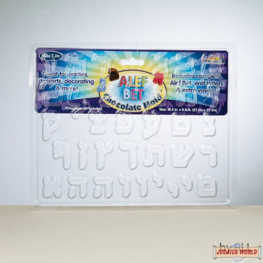Alef Bet Chocolate Mold