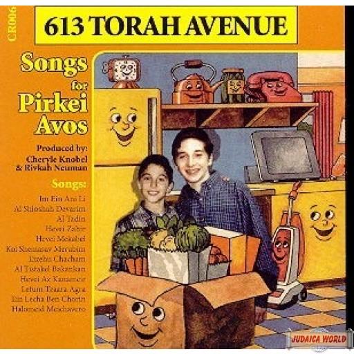 613 Torah Ave. Songs For Pirkei Avos C.D.