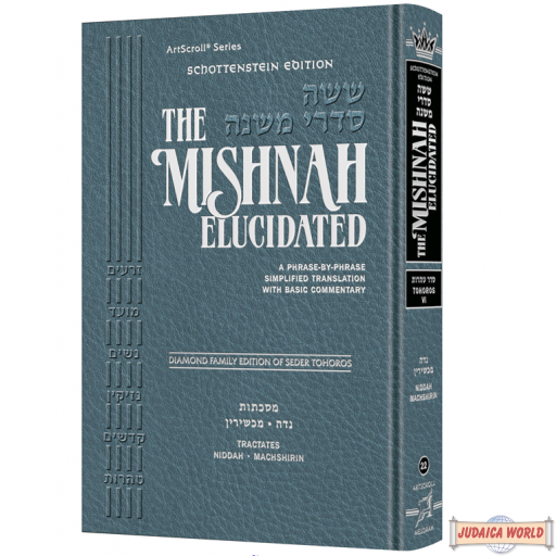 The Mishnah Elucidated #22, Seder Tohoros Vol. #6, Niddah, Machshirin