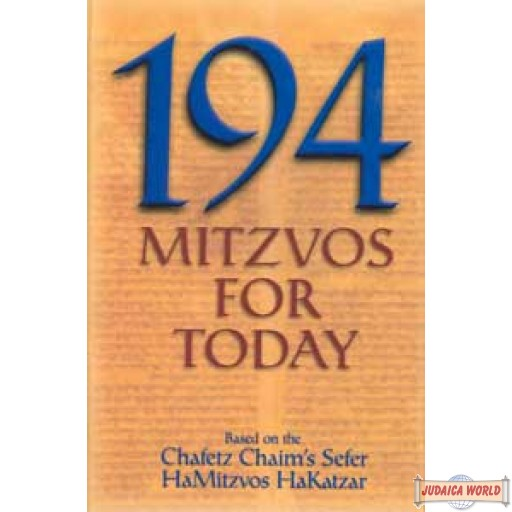 194 Mitzvos For Today