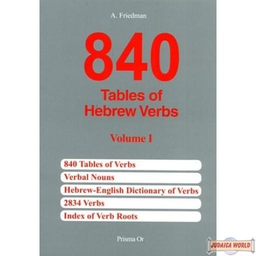 840 Tables of Hebrew Verbs