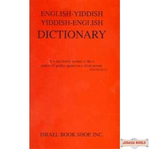 English-Yiddish Yiddish-English Dictionary - Small