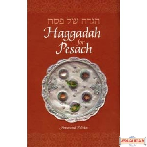 "Haggadah for Pesach, Annotated Heb/Eng Chabad Edition - 8.5""x5.5"""
