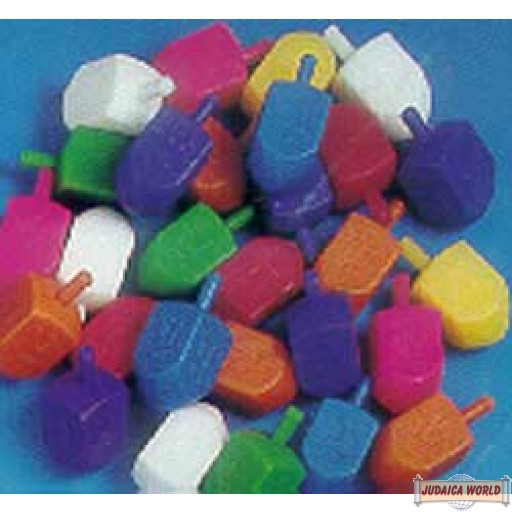 Medium Colorful Plastic Dreidels - 1 for
