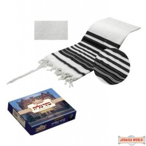 """NEW Lightweight Keter Chabad Talis with silk corners and lining - Medium - 55"""" X 75"""""""