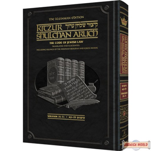 Kitzur Shulchan Aruch Code of Jewish Law Vol #2 Chapters 35-71