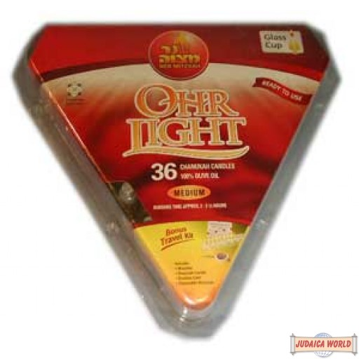 Ohr Lights 36 Pc.(for those who use beeswax candles for shamashim) Does not qualify for free shipping