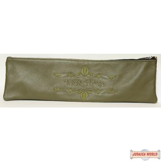 Leather Megillah Case style M170LV
