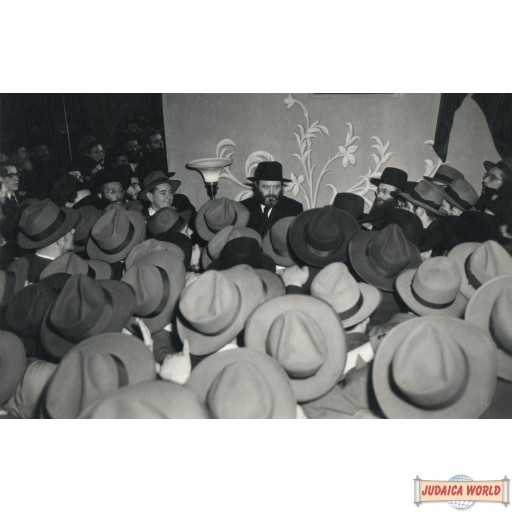 """Vintage Canvas wrap of Rebbe by a wedding 40"""" by 60"""" (Free US shipping)"""