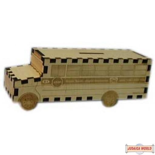 School Bus Wooden Pushka