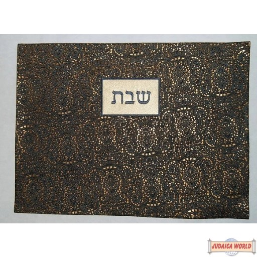 Leather Challah Cover Style PC105BK-GO
