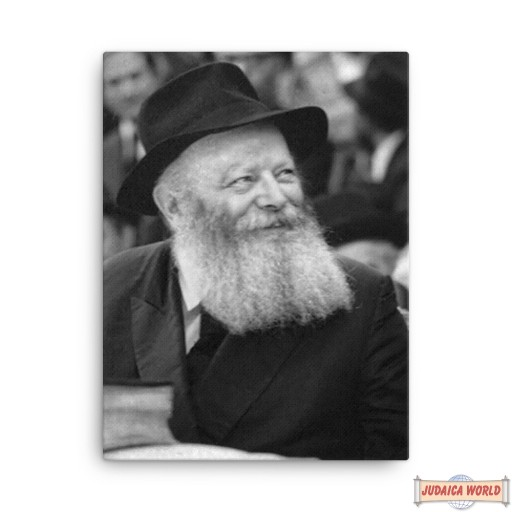"""20"""" by 24"""" picture of the Rebbe on Canvas. Ships free in the continental USA"""