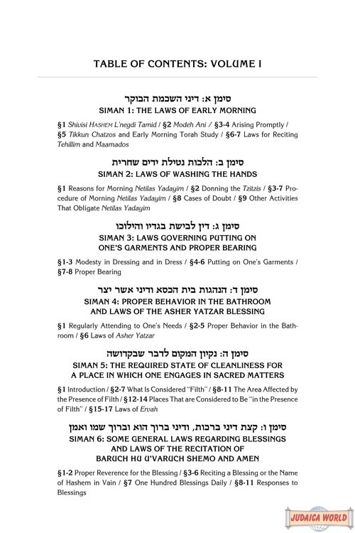 Kitzur Shulchan Aruch, Code of Jewish Law Vol 4 Chapters 98-144