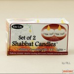 Shabbat Candles Battery Operated with L.E.D. Lights - Set of 2
