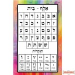 "24"" X 36"" Alef Beis Vinyl Poster (special order item can take up to 2 weeks to ship)"