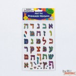Alef-Bet Prismatic Stickers, 2 Sheets
