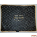 Leather Challah Cover Style CC300 Black/Gold