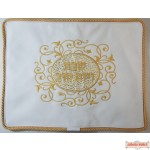 Leather Challah Cover Style CC120 White/Gold