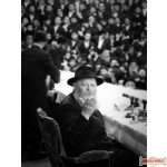 "Vintage Canvas wrap of Rebbe's Farbrengen with unique look 40"" by 30""  (Free US shipping)"