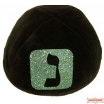Yarmulka with Large Initial in Frame Style #2