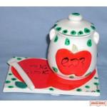 Colorful Ceramic Honey Dish