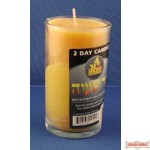 Memorial (Yortzeit) Candle - Beeswax (2 Day) Because of thier weight these do not qualify for free shipping.