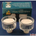 2 Pack Crystal Tealight Holders