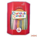 Colorful Spiral Chanukah Candles