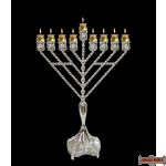 Menorah Silver Plated Chabad Rambam (Does not qualify for free shipping)