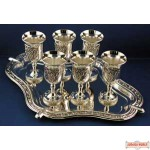 Silver plated L'chaim Set