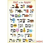 Aleph is for Apple Poster
