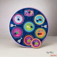 "Seder Plate Puzzle, 9"" Round Wood"