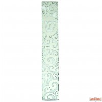 Aluminum Mezuzah Case 12cm- with Ornate Plaque