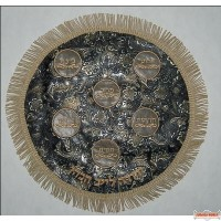 Leather Matzah Cover  MA150-BK