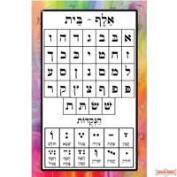 "30"" X 47"" Alef Beis Vinyl Poster (special order item can take up to 2 weeks to ship)"