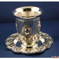 Silver plated Becher with Tatz