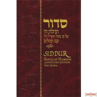 Siddur Tehillat Hashem (all Hebrew) with English annotations and Tehillim
