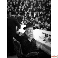 """Vintage Canvas wrap of Rebbe's Farbrengen with unique look 40"""" by 30""""  (Free US shipping)"""