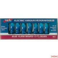 Blue Flame-Shaped Chanukah Bulbs