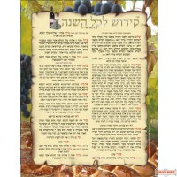 קידוש לשבת Shabbat Kiddush Laminated Poster