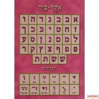 "Laminated Colorful Alef Beis Chart - Medium - 13 1/2"" X 9 1/2"""