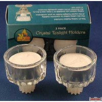 2 Pack Crystal Tealight Holders