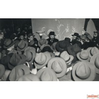 "Vintage Canvas wrap of Rebbe by a wedding 40"" by 60"" (Free US shipping)"