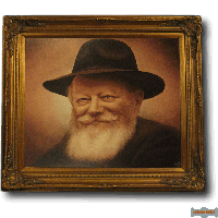 The Rebbe's Smile (Color) Giclee Canvas print By Artist Shmuel Goldstein