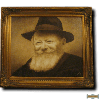 The Rebbe's Smile (Sepia) Giclee Canvas print By Artist Shmuel Goldstein