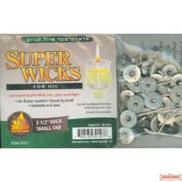 "Super Wicks 2 1/2"" wick with small tab"