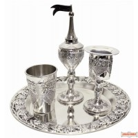 Havdalah Set Nickel Plated