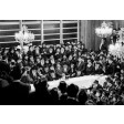 """Vintage Canvas wrap of Rebbe's Farbrengen 40"""" by 30""""  (Free US shipping)"""
