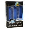 "2-Pk. Clear Lights Glass - 4"" (Lined Candle Shape)"